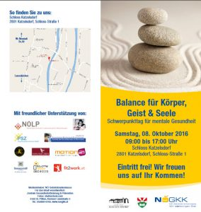 Katzlsdofe Mentale Gesundheitstage 2016 NÖGKK_ÖBKT